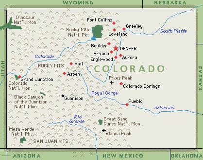 Executive Search Consultants Colorado CO Colorado Springs Denver - Us map of colorado