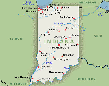 Executive Search Consultants Indiana IN Indianapolis - Usa map indiana