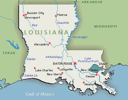 Executive Search Consultants Louisiana LA Baton Rouge New Orleans - Louisiana map usa