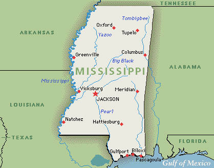Executive Search Consultants Mississippi MS Jackson - Mississippi usa map