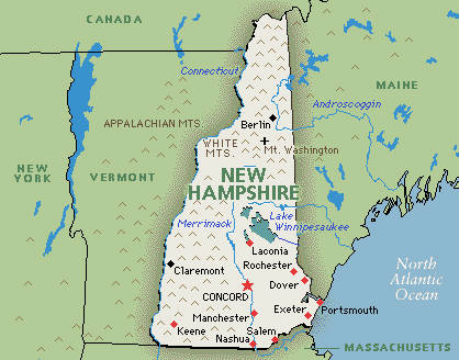 Executive Search Consultants New Hampshire NH Concord Manchester - New hampshire map usa
