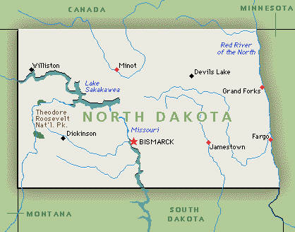 Executive Search Consultants North Dakota ND Bismarck - North dakota map usa