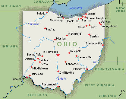 Executive Search Consultants Ohio OH Cincinnati Cleveland - Map usa ohio