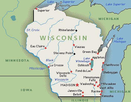 Executive Search Consultants Wisconsin WI Madison Milwaukee - Map of us wisconsin