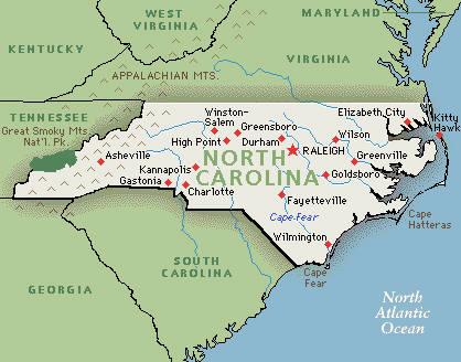 Executive Search Consultants North Carolina NC Charlotte - North Carolina Map Us